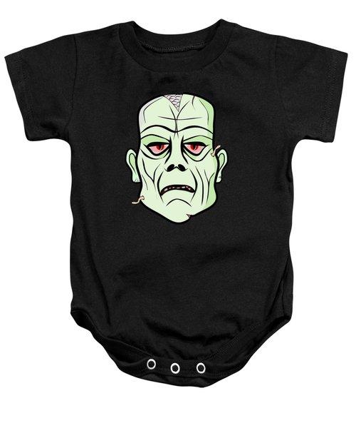 Zombie Head Baby Onesie