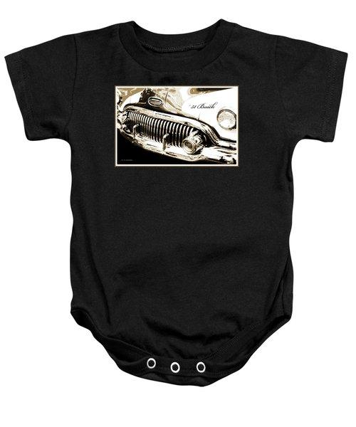 1951 Buick Super, Digital Art Baby Onesie