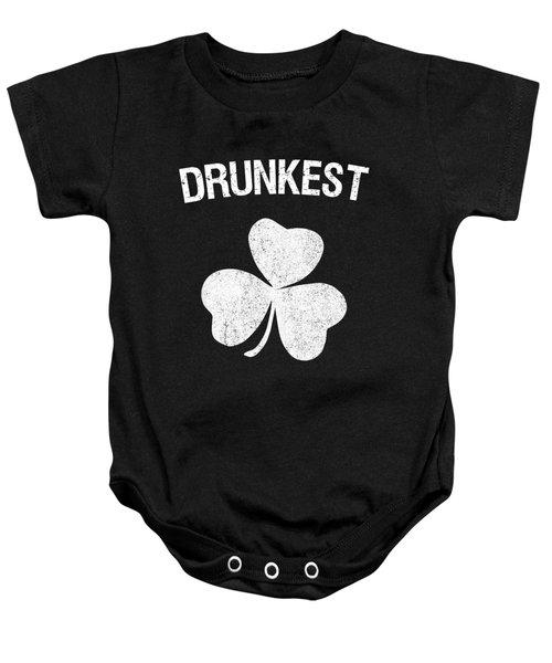 Drunkest St Patricks Day Group Baby Onesie