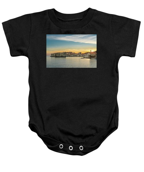 Dubrovnik Old Town At Sunset Baby Onesie