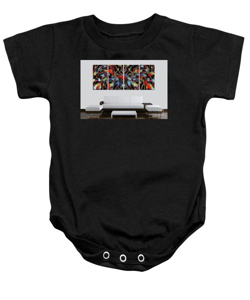 Funny Abstract Overlay Baby Onesie