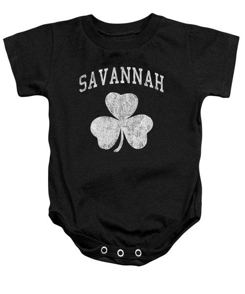 Savannah Georgia Irish Shamrock Baby Onesie