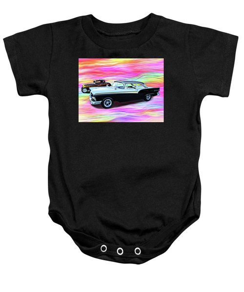 1932 And 1957 Fords Baby Onesie