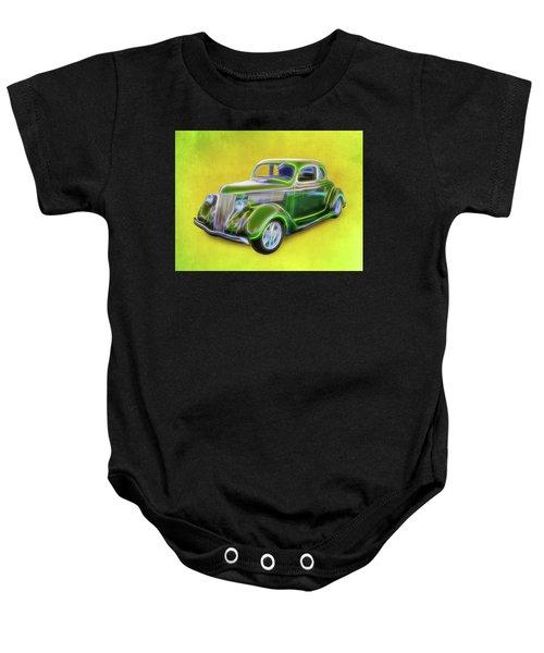 1936 Green Ford Baby Onesie