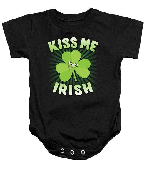 Kiss Me Im Irish Baby Onesie