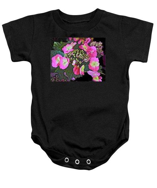 2019 June At The Gardens Tuff Stuff Hydrangea Baby Onesie