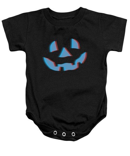 3d Halloween Pumpkin Baby Onesie