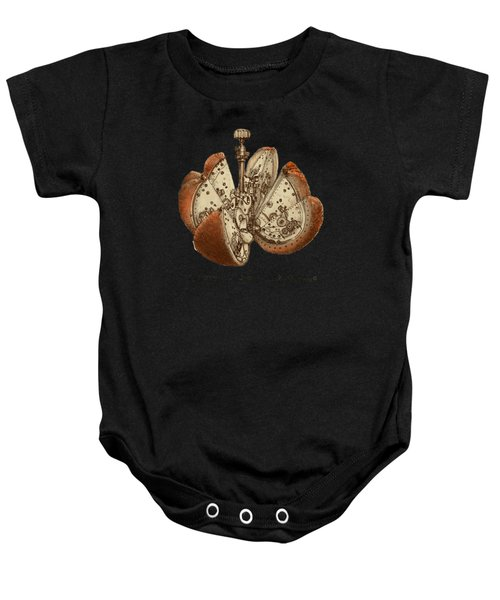 Steampunk Orange - Option Baby Onesie