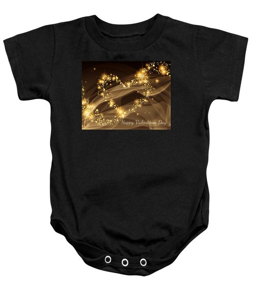 A Heart Of Gold Baby Onesie