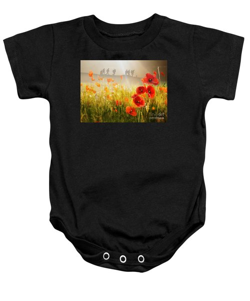 Baby Onesie featuring the mixed media A Time To Remember by Morag Bates