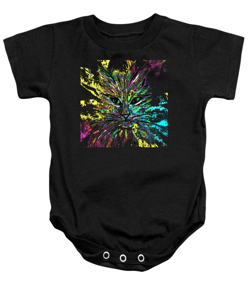 Abstract Cat  Baby Onesie