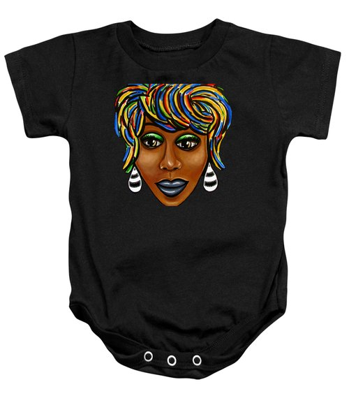 Abstract Art Black Woman Retro Pop Art Painting- Ai P. Nilson Baby Onesie