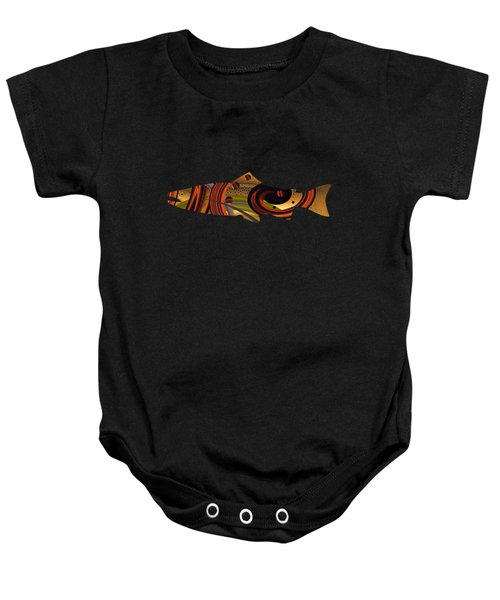 Abstract Trout Baby Onesie