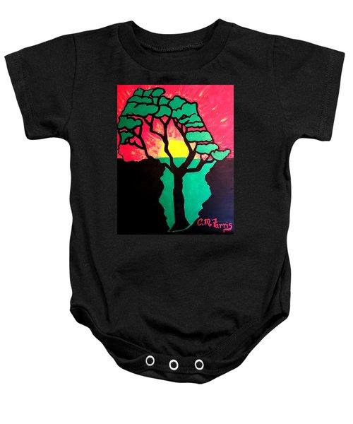 African Sunset  Baby Onesie