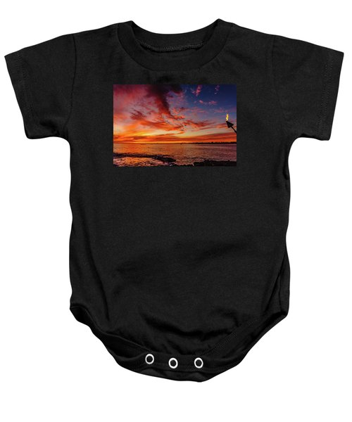After Sunset Colors At Kailua Bay Baby Onesie