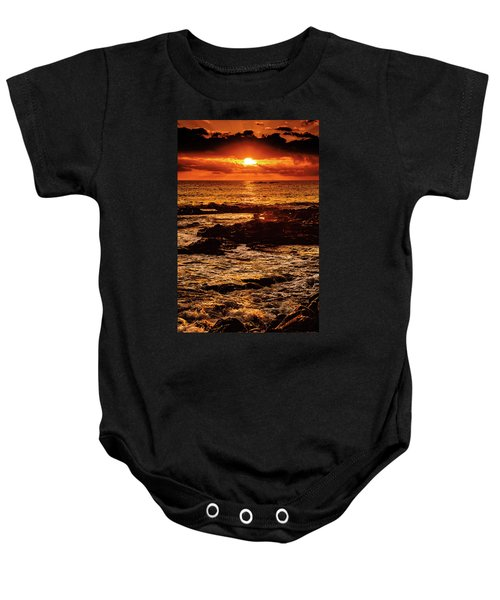 Baby Onesie featuring the photograph After The Rumble Sunset by John Bauer