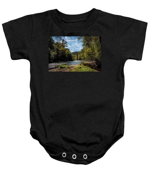Along Oconaluftee River Trail Baby Onesie