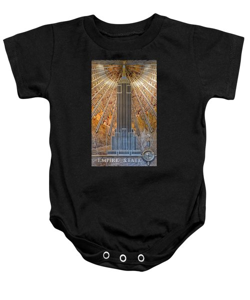 Aluminum Relief Inside The Empire State Building - New York Baby Onesie