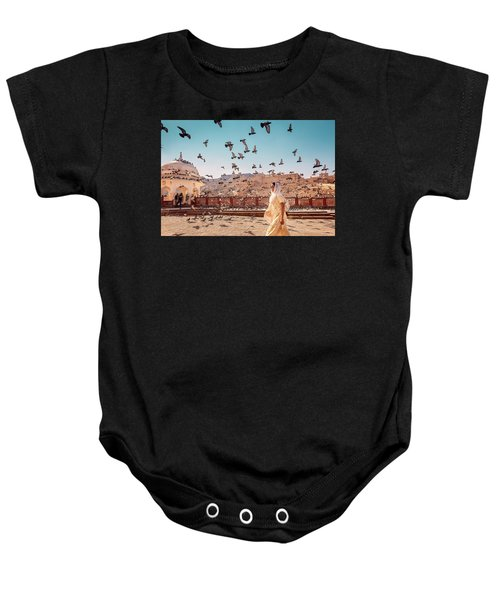 Amber Fortress Baby Onesie