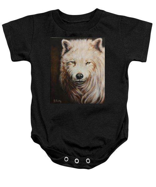 Arctic Wolf Portrait Baby Onesie