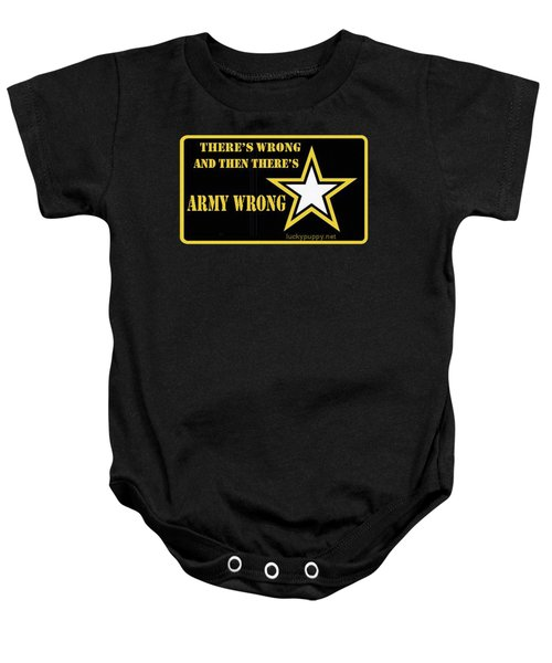 Army Wrong Baby Onesie