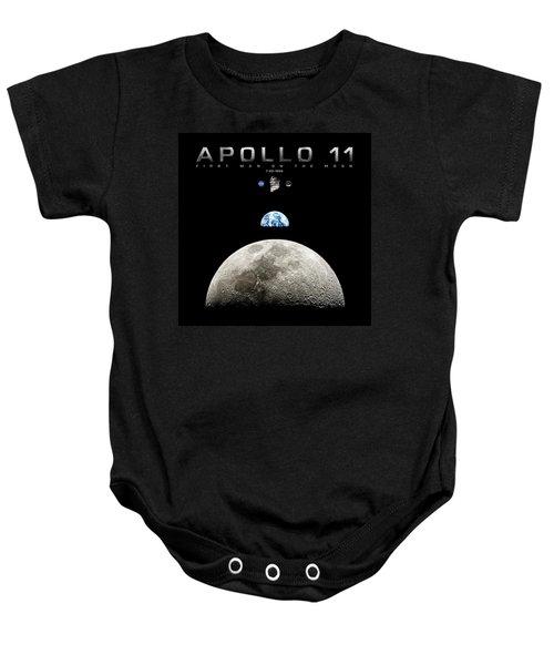 Apollo 11 First Man On The Moon Baby Onesie