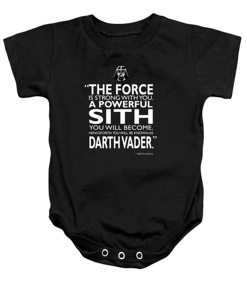 A Powerful Sith Baby Onesie