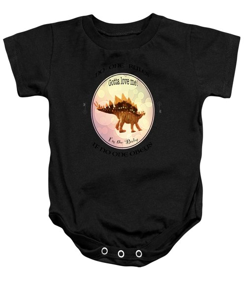 No One Rules If No One Obeys By Olena Art Baby Onesie