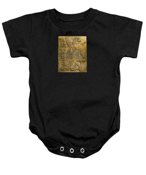 Assyrian Winged Genie 2 Baby Onesie