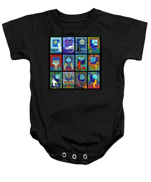 Astrology Cat Zodiacs Baby Onesie