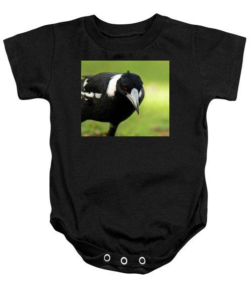 Australian Magpie Outdoors Baby Onesie
