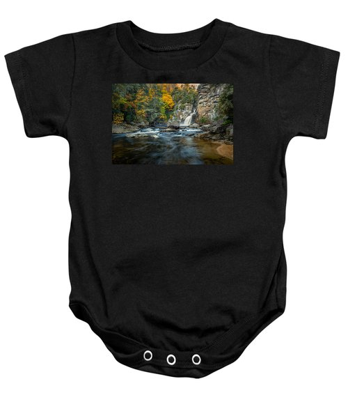Autumn At Linville Falls - Linville Gorge Blue Ridge Parkway Baby Onesie