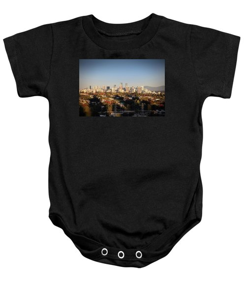 Autumn At The City Baby Onesie
