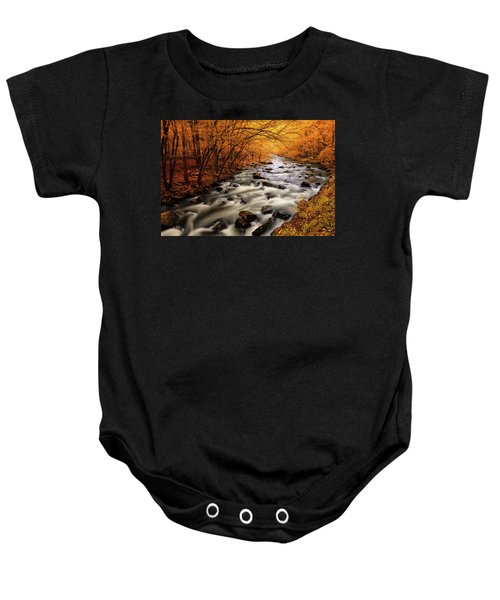 Autumn On The Little River Baby Onesie