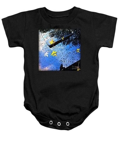 Autumn Raindrops Car Reflections Baby Onesie
