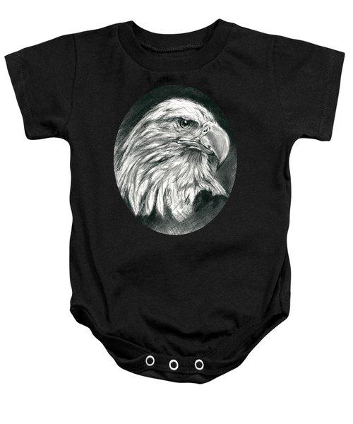 Bald Eagle Intensity Baby Onesie