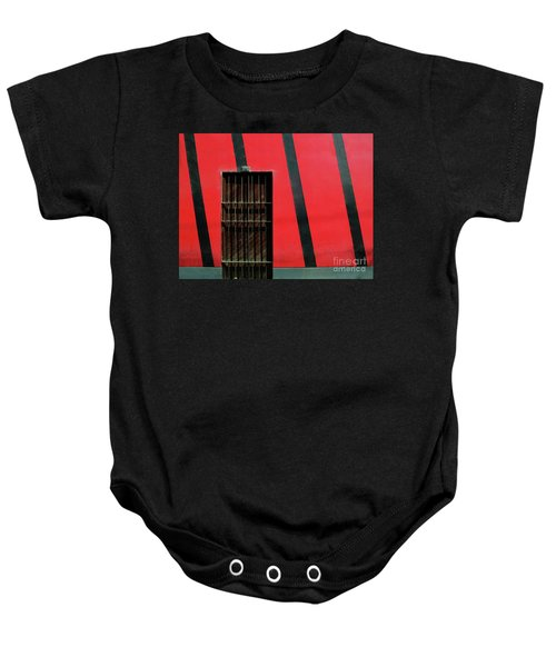 Bars And Stripes Baby Onesie