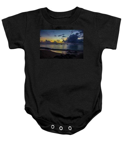 Beach At Sunset 3 Baby Onesie