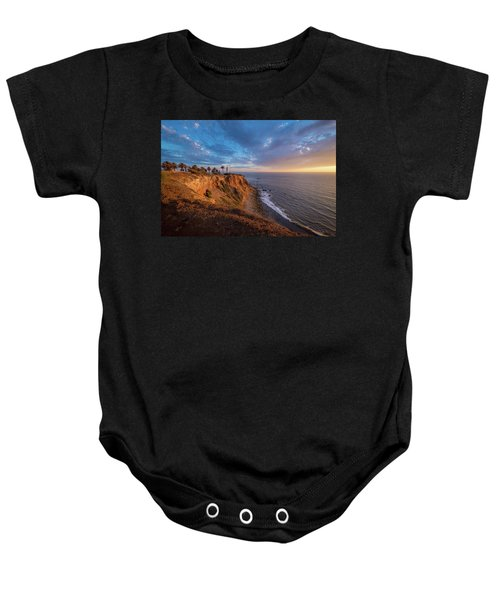 Beautiful Point Vicente Lighthouse At Sunset Baby Onesie