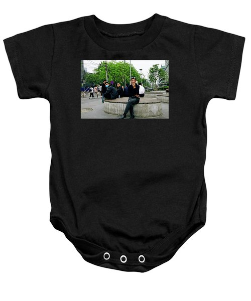 Beijing Street Baby Onesie