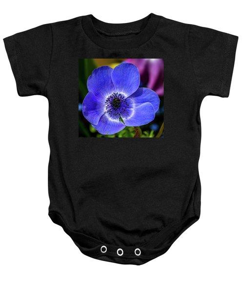 Blue Poppy Baby Onesie