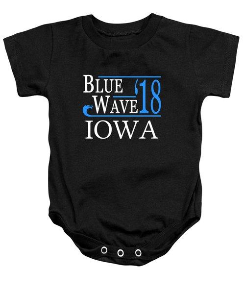 Blue Wave Iowa Vote Democrat 2018 Baby Onesie