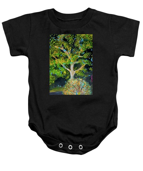 Branching Out Peacock Baby Onesie