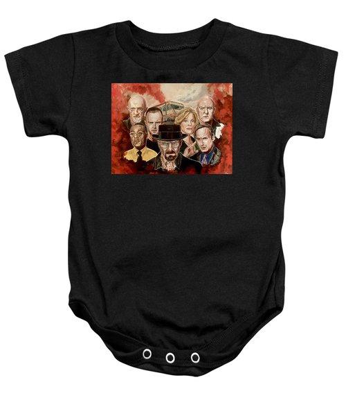 Breaking Bad Family Portrait Baby Onesie