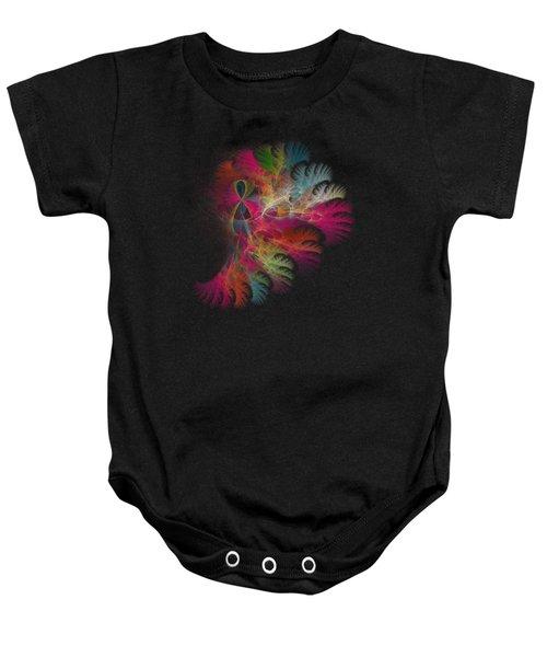 Brilliant Flare Coral Fractal Baby Onesie