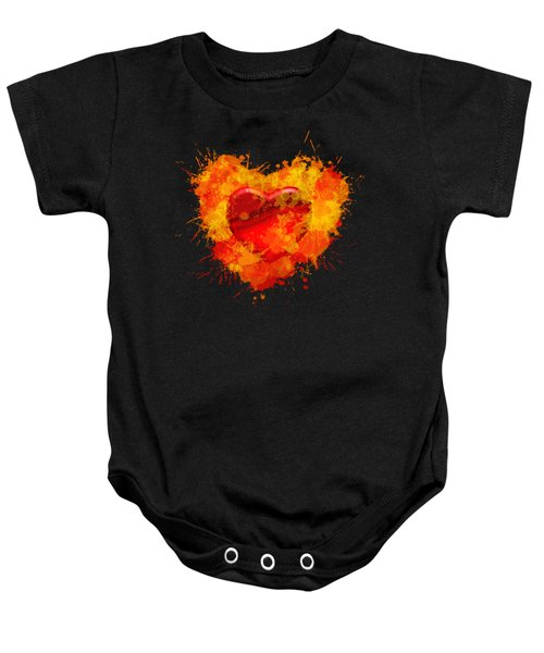 Burning Heart Baby Onesie