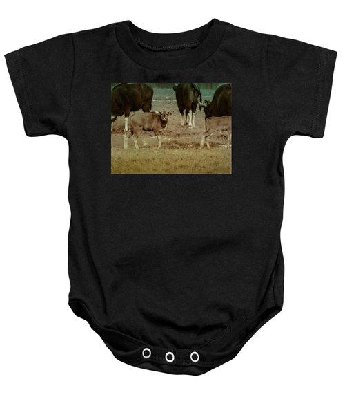 Calf Posing Baby Onesie