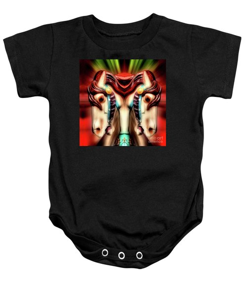 Carousel Horse Abstract Baby Onesie