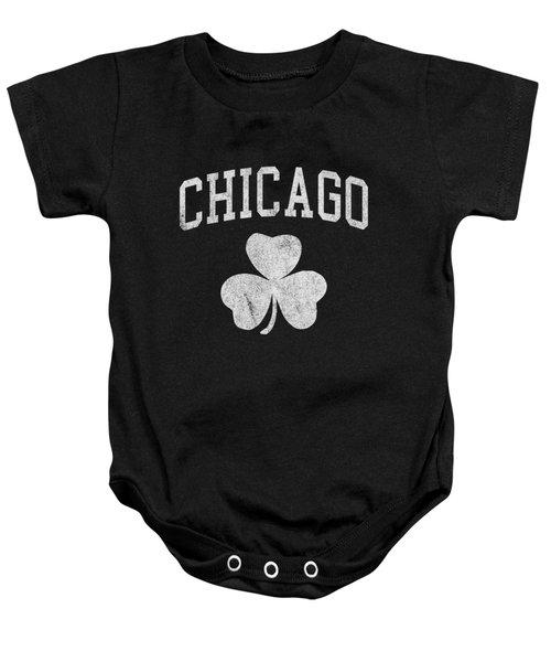 Chicago Irish Shamrock Baby Onesie