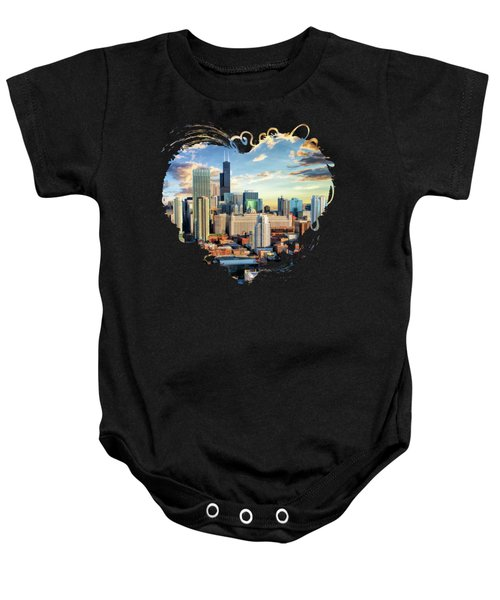 Chicago River North Baby Onesie